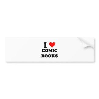 I Love Comic Books Bumper Stickers