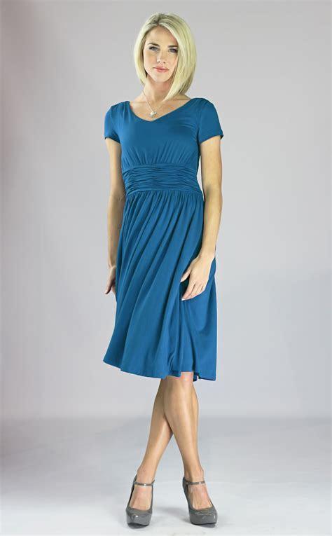 Modest Blue Dresses   Cocktail Dresses 2016