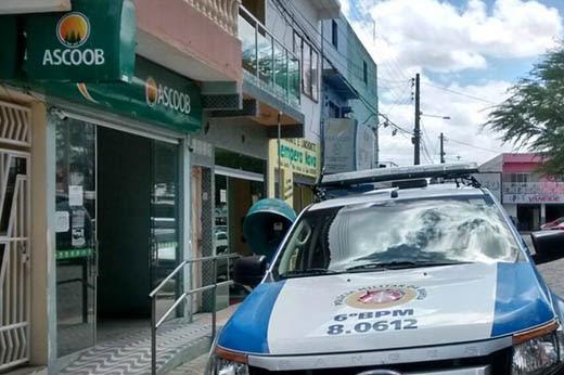 PM solicitou imagens de circuito de segurança da cooperativa de crédito para ajudar nas investigações