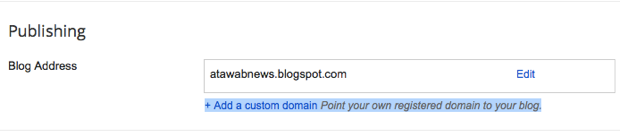 How to add blogspot custom domain
