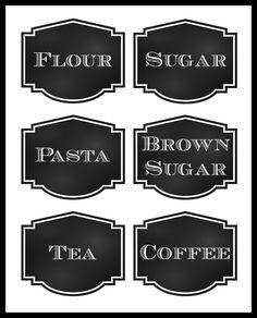 Free Pantry Labels | Jars, Jar labels and Pantry