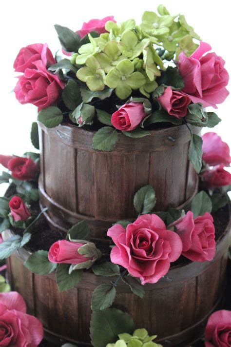 Garden Basket Wedding Cake   CakeCentral.com