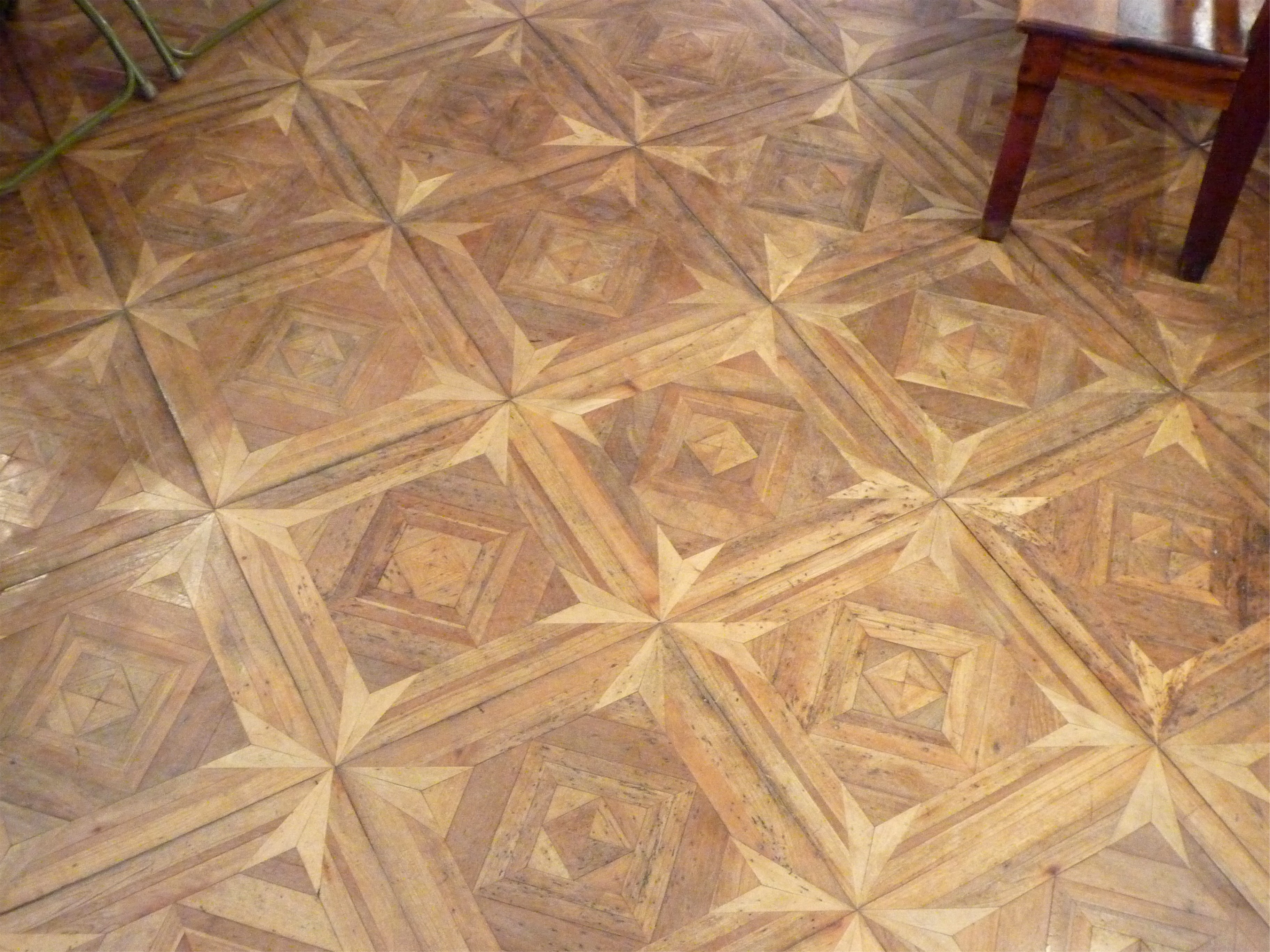 Parquet panel with design - Grenoble/France