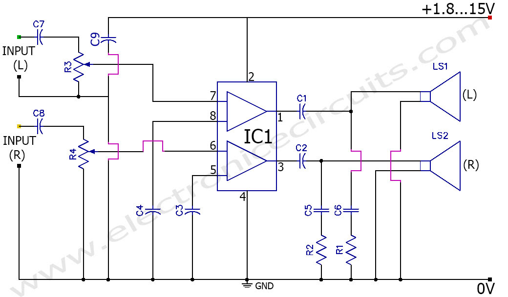 5v amplifier circuit