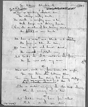 """The Village Blacksmith"" (manuscript..."