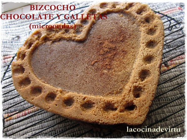 bizcocho chocolate y galleta