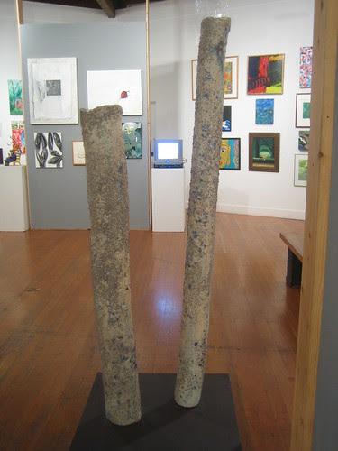 Winter Stems by Robert Abrams, porcelain, Green - Berkeley Art Center Member Show 2010 _ 9412