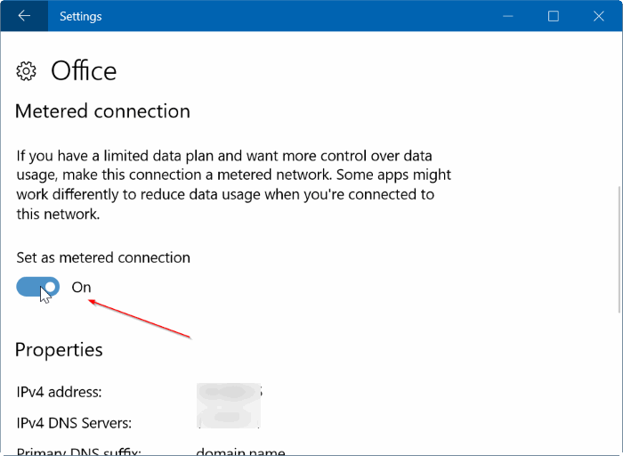 How To Set Ethernet Connection As Metered In Windows 10