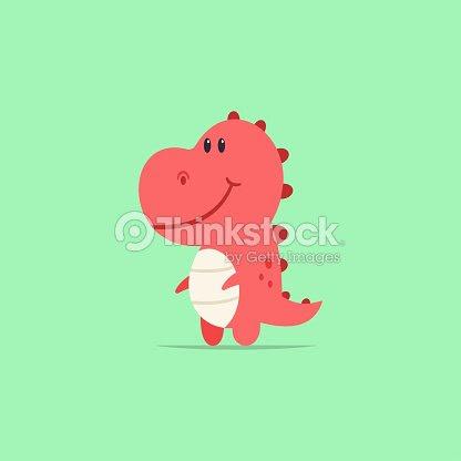 Carácter De Bebé Trex Dinosaurio De Dibujos Animados Lindo Animal