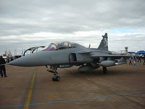 English: Saab Gripen NG Demonstrator 39-7 at R...