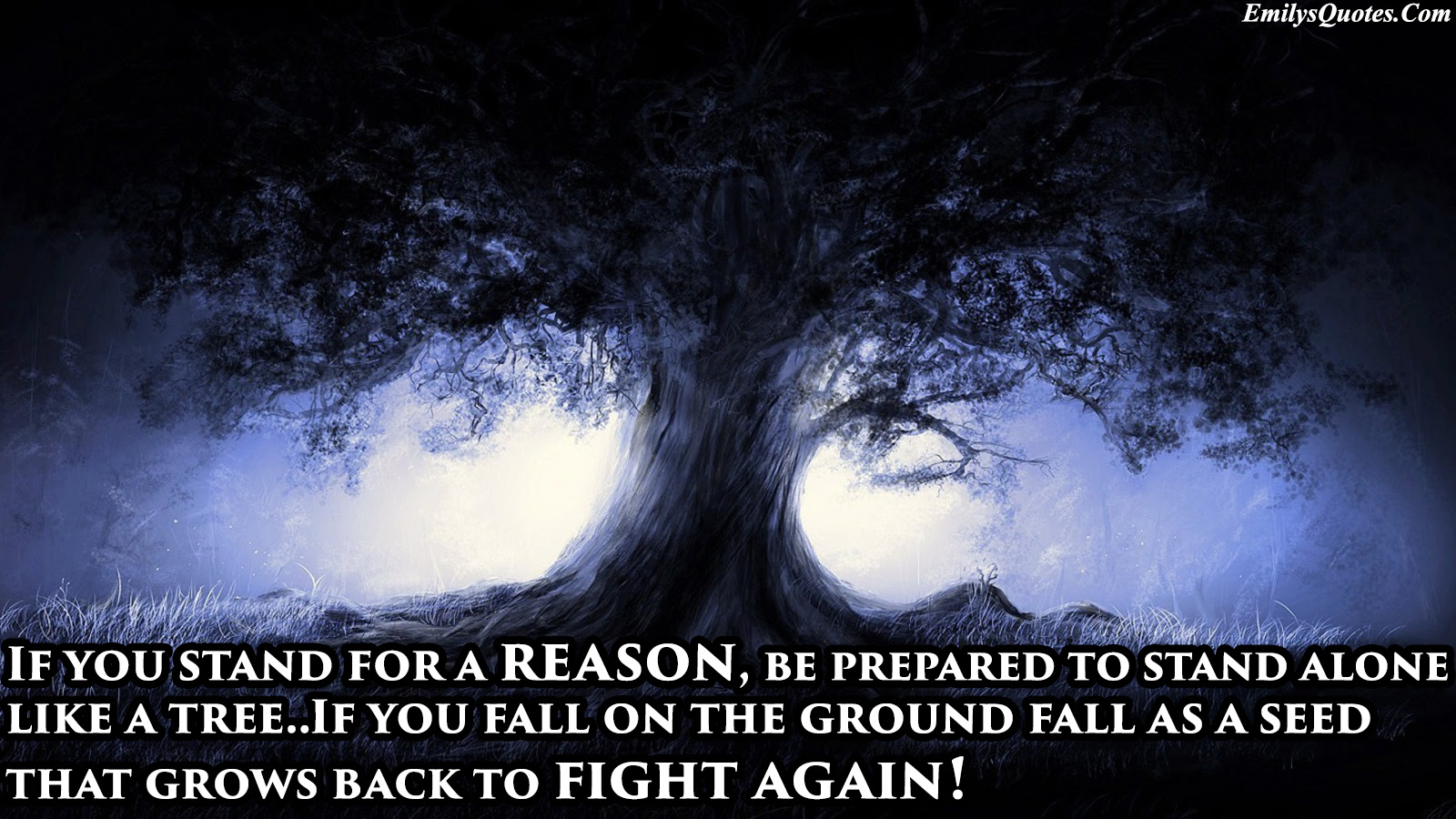 If You Stand For A Reason Be Prepared To Stand Alone Like A Tree