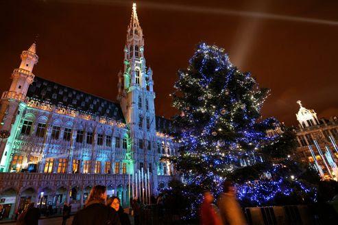 Le sapin de la Grand-Place de Bruxelles, en 2008