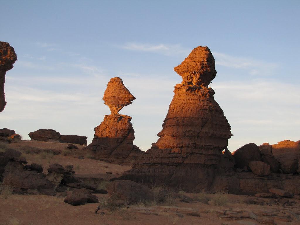 Ennedi. Laberinto de rocas de Awayké. Efectos de la erosión