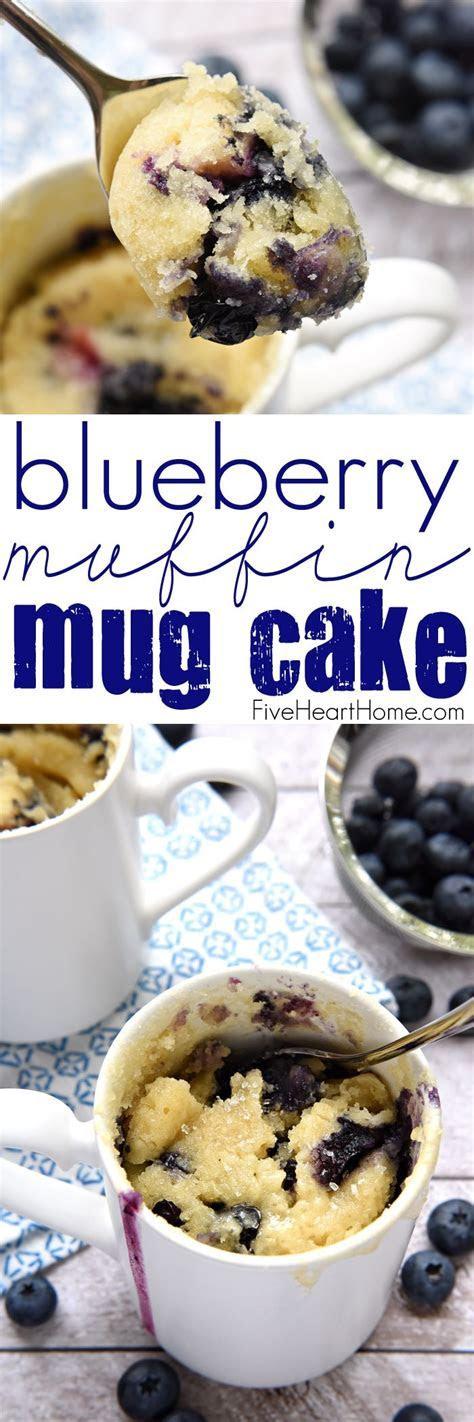 Blueberry Muffin Mug Cake   Recipe   Blueberries muffins