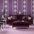 Living Room In Purple Colour Is One Of The Most Popular Living ...