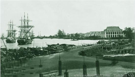 Cuối Kênh Chợ Vải nhìn ra sông Sài Gồn. Nguồn: OntheNet
