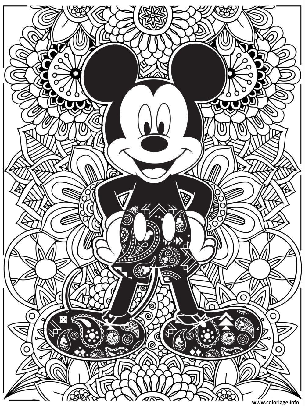 Coloriage Mandala Disney Mickeymouse Hd Dessin  Imprimer