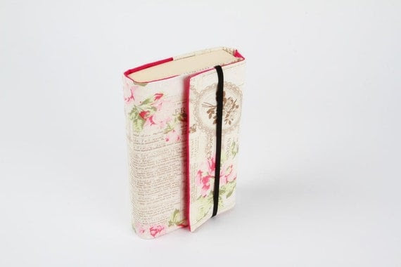 Adjustable paperback book cover - Romantic roses