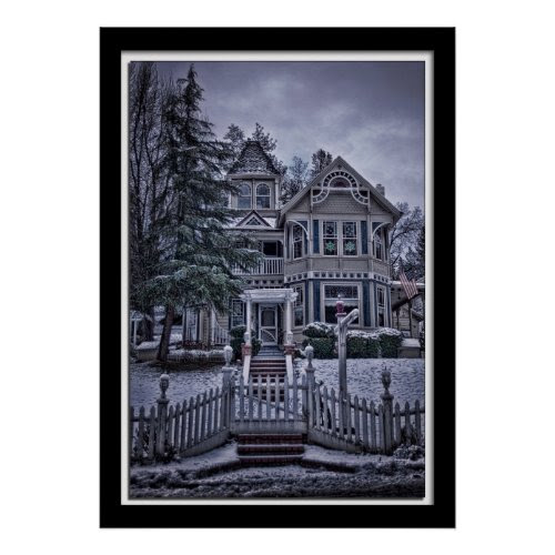 Lillian Photography Old Victorian House print