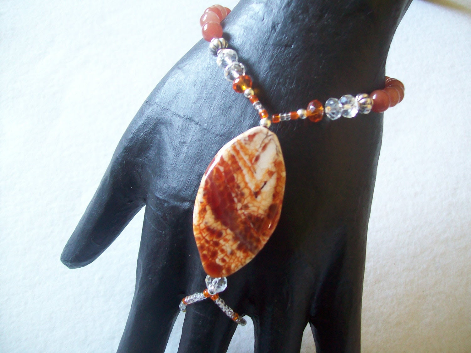 FIRE AGATE Fingerbracelet small, medium and large