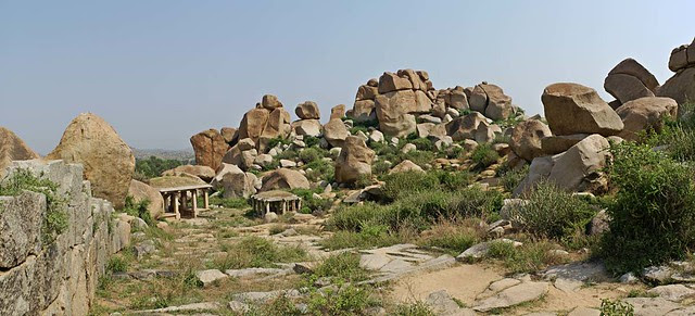 Stone Wall and Path, Hampi
