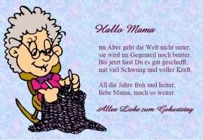 June C Miller: Geburtstagsspruch Mutter