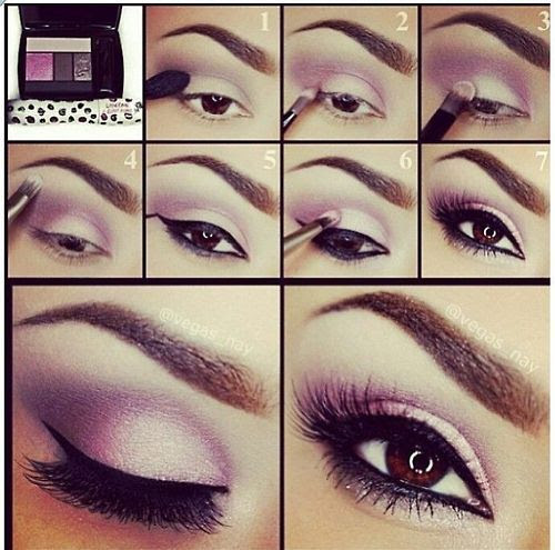DIY Eyeshadow make-up tutorial