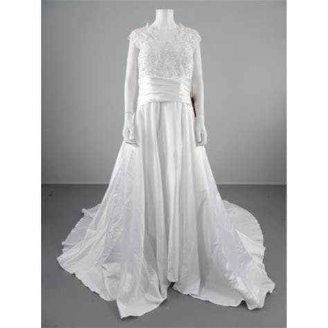 BNWT Light In The Box Size 16 Ice White Wedding Gown