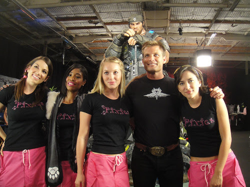 Noobz Movie Shoot - the Pixies with Casper Van Dien