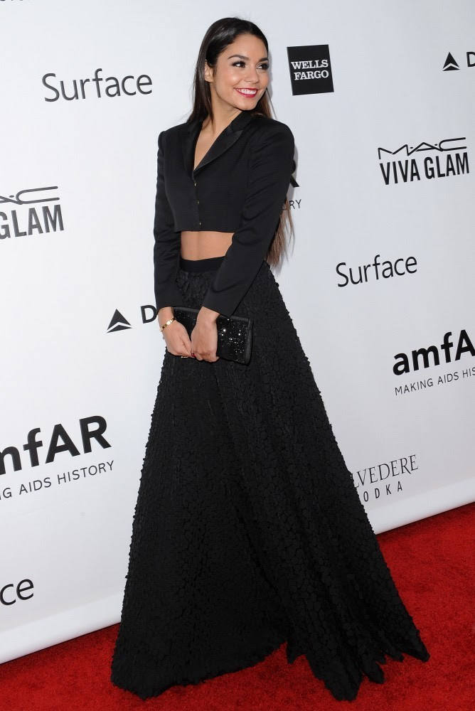 Arrivals at the amfAR Inspiration Gala at the Milk Studios in Los Angeles on December 12, 2013.