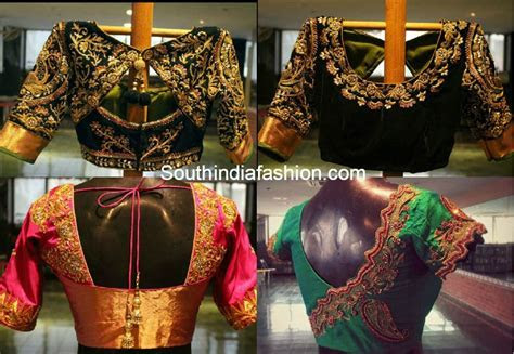 Designer Blouses for Silk Sarees ? South India Fashion