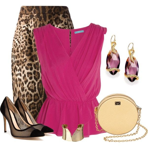 """Leopard&Hot Pink"" by katiediab on Polyvore"