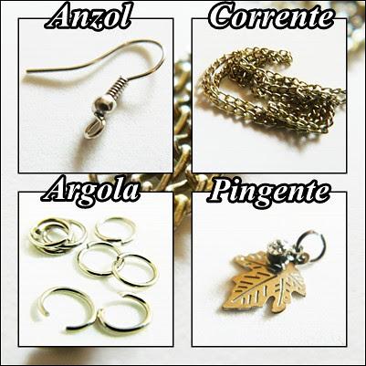 materiais usados DIY brinco unico choveirinho earrings unic juliana leite