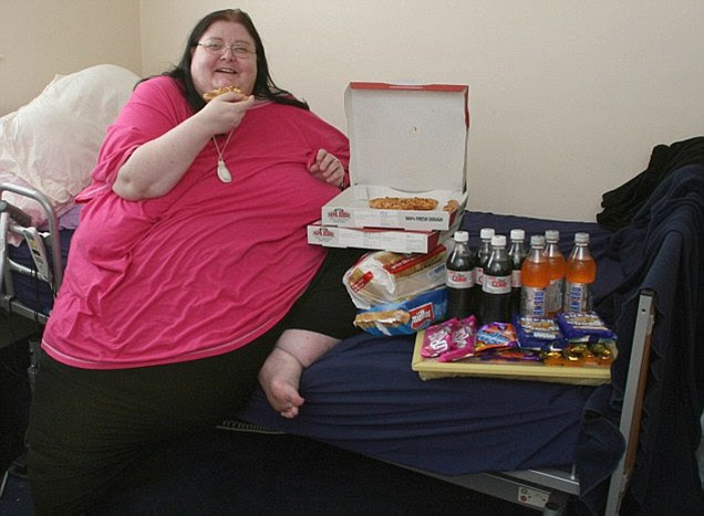 She would get regular deliveries from the butchers, fish and chip shop and local Tesco supermarket to her bed