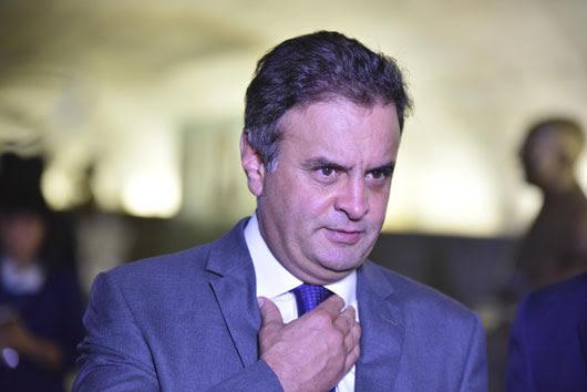 O senador afastado Aécio Neves (PSDB-MG) (Foto: Ricardo Botelho/Brazil Photo Press/AFP