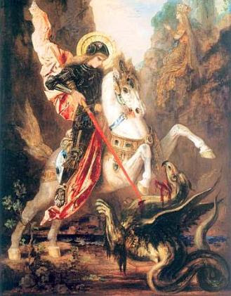 St George Slaying the Dragon, Gustave Moreau, 19th Century