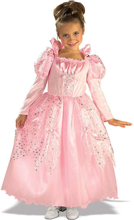deluxe girls pink princess costume gown fancy dress child