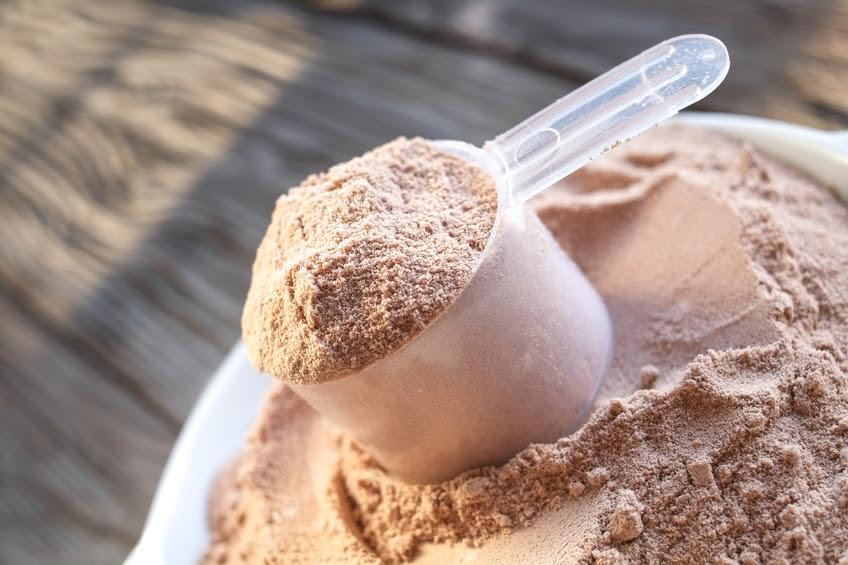 Muỗng bột protein hương vị sô cô la