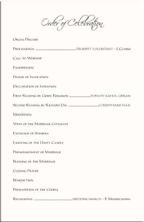 Beach Wedding Programs Tropical Wedding Directories Order