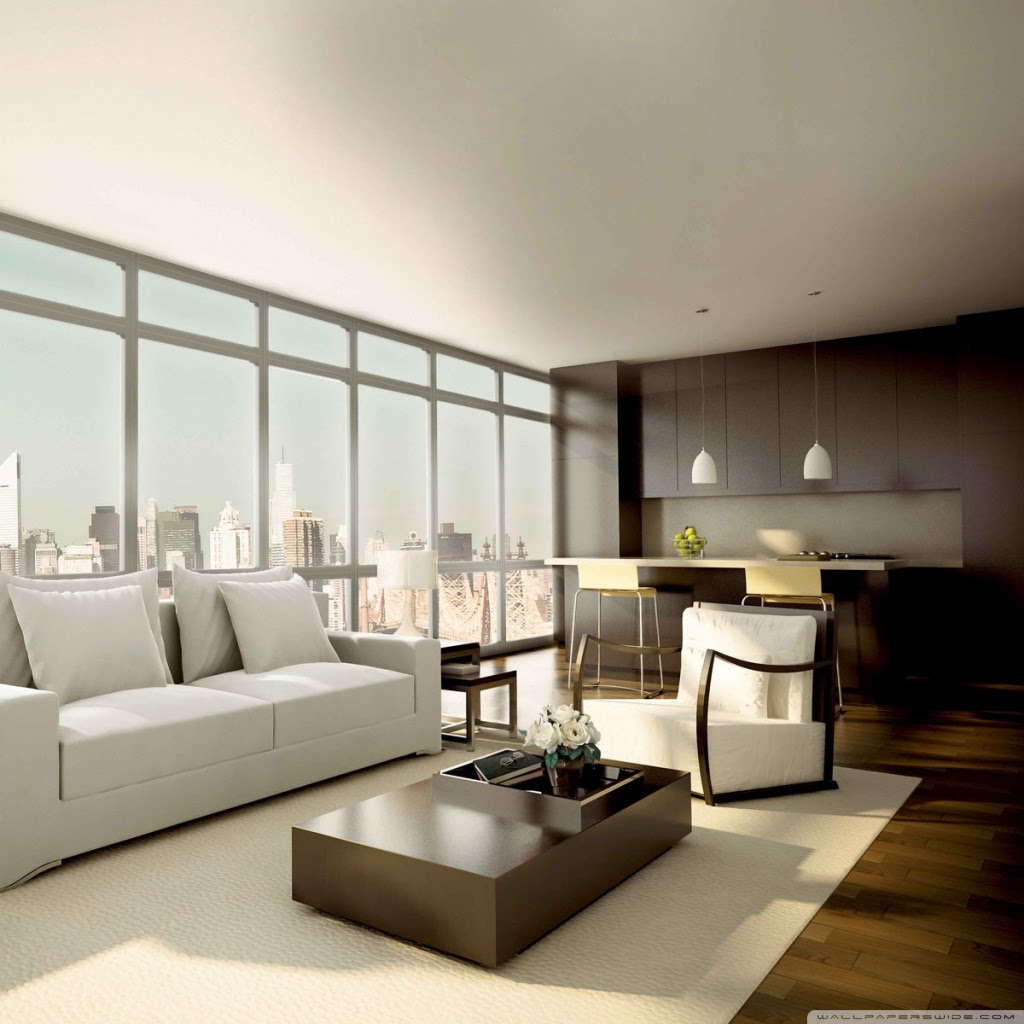 Interior Design 4K HD Desktop Wallpaper for 4K Ultra HD TV • Wide Ultra Widescreen Displays - Modern Interiors 4k HD Wallpapers – White And Brown Larg Living Roomdesign HD Wallpapers
