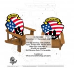Remember 9-11 Adirondack Chair Woodworking Plan - fee plans from WoodworkersWorkshop® Online Store - remember 9-11,911,September 11 2001,adirondack chairs,yard art,painting wood crafts,scrollsawing patterns,drawings,plywood,plywoodworking plans,woodworkers projects,workshop blueprints