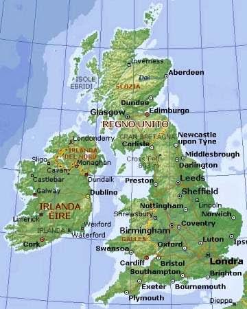 Cartina Muta Inghilterra Da Completare.Nottingham Cartina