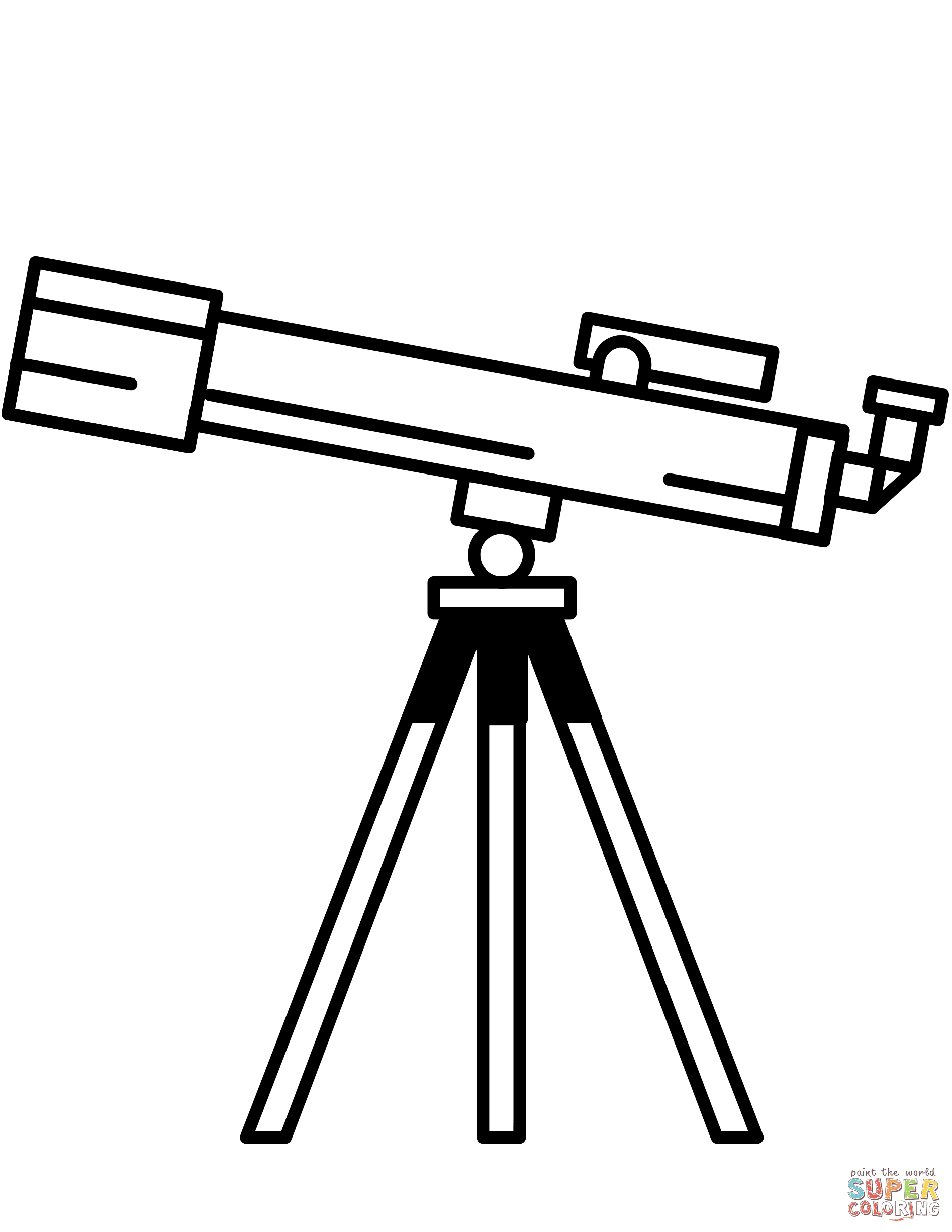 Download Telescope coloring page | Free Printable Coloring Pages