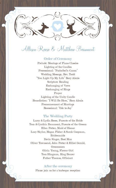 wedding programs images  pinterest wedding