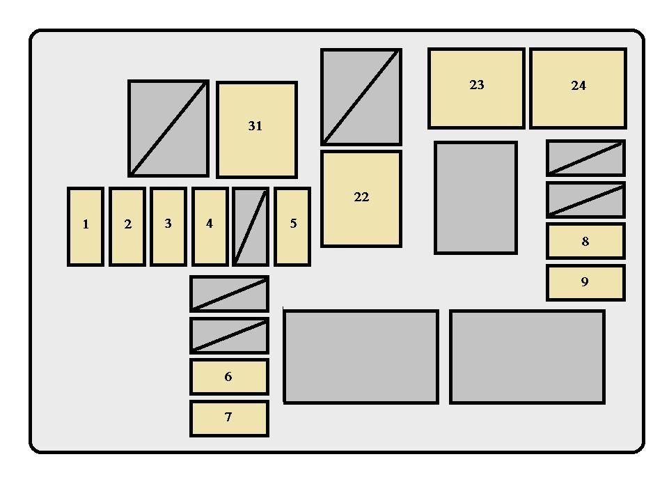 Toyota RAV4 (XA10; 1994 - 1996) - fuse box diagram - Auto ...