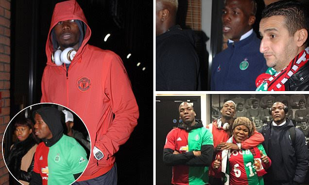 Man Utd star Paul Pogba heads out for dinner with brothers