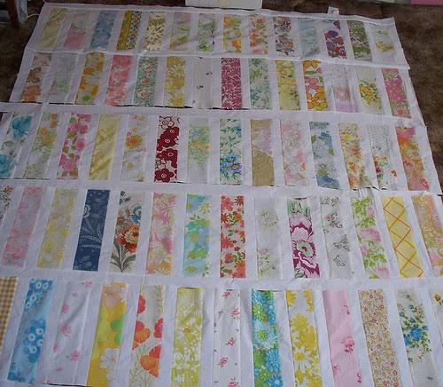 vintage sheet bar quilt