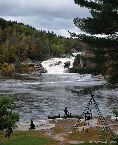 """""""Indian Encampment"""" on the Androscoggin River in Rumford"""