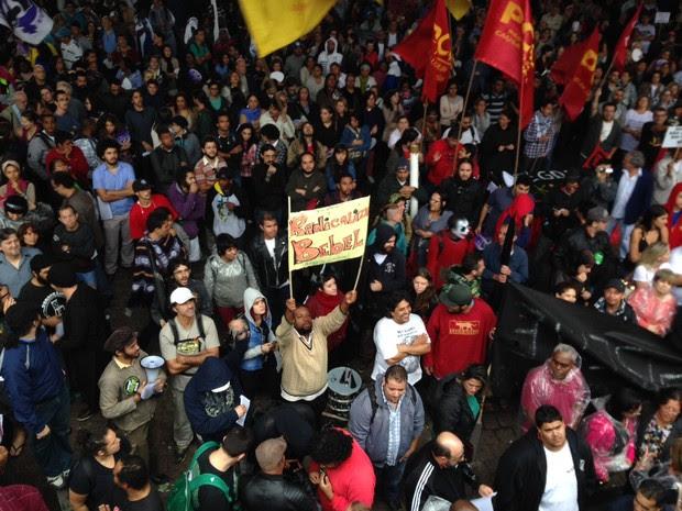 Radicaliza Bebel manifestação vão livre Masp professores (Foto: Glauco Araújo/G1)