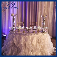 Cl010l Cheap Hot Sale Elegant Polyester Organza Round